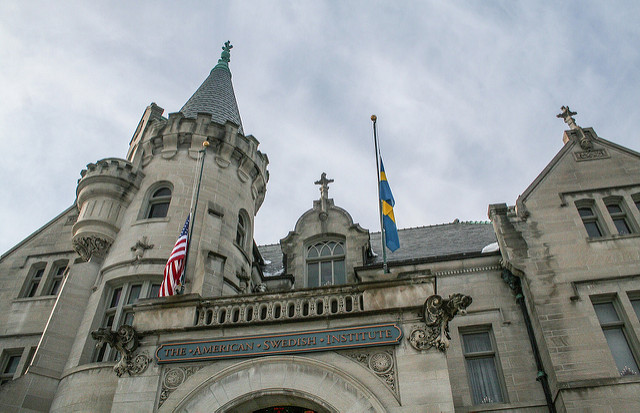 """Swedish American Institute. Image by <a href=""""https://flic.kr/p/p99pMe"""" target=""""_blank""""> Tony Webster/flickr</a>"""