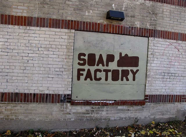 "Soap Factory Sign. Image by <a href=""https://flic.kr/p/aC4gNg"" target=""_blank""> John/flickr</a>"