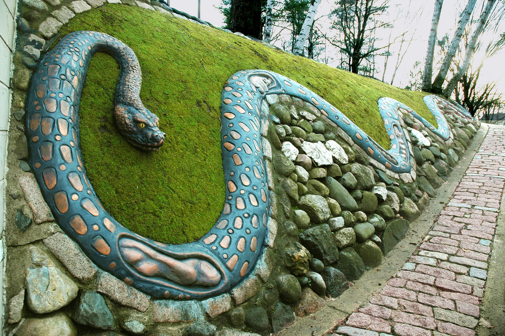 Caponi Art Park snake sculpture