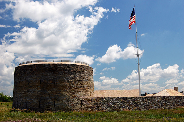 "Round Tower at Fort Snelling, St. Paul. Image by <a href=https://flic.kr/p/6FoffH target=""_blank""> jpellgen/flickr</a>"