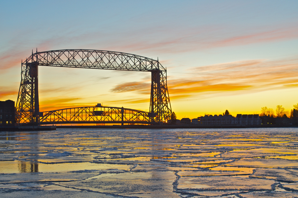 Duluth's Aerial Lift Bridge at Sunrise
