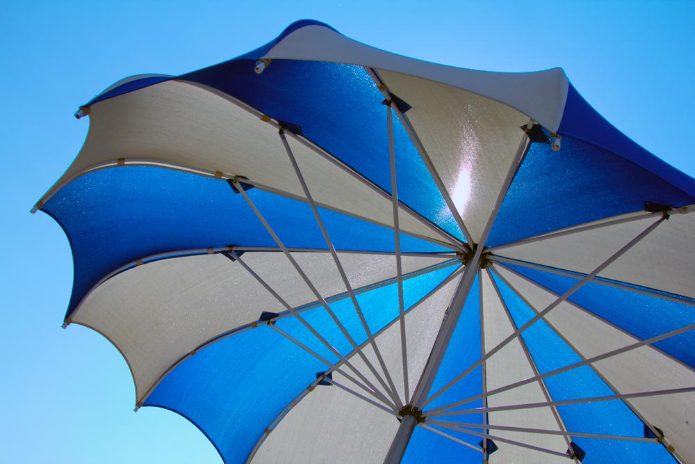 Beach umbrella on Lake Elmo Photo by Todd Buchanan/Greenspring Media