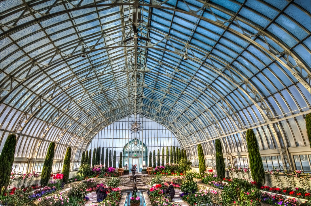 Interior of Marjorie McNeely Conservatory Photo by m01229/flickr https://flic.kr/p/dS4VTC
