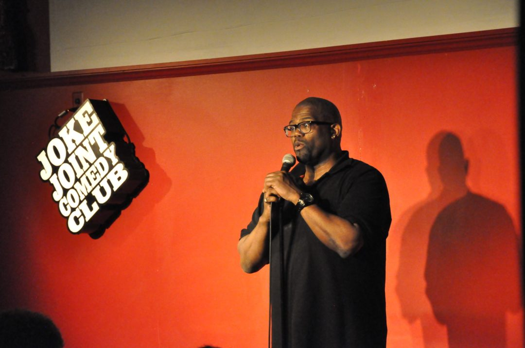 "Darryl Lenox performs at Joke Joint Comedy Club. Image by Ken Reed. Courtesy of <a href=""http://www.jokejointcomedyclub.com/"" target=""_blank"">Joke Joint Comedy Club</a>"