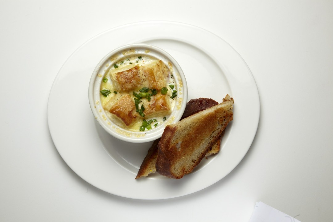 Eggs en Cocotte at Grand Café. Image by Todd Buchanan/Greenspring Media
