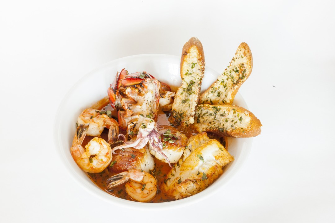Seafood dish at Louis Ristorante Photo by TJ Turner/Greenspring Media