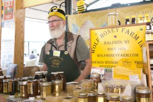 Wolf Honey Farm stand.