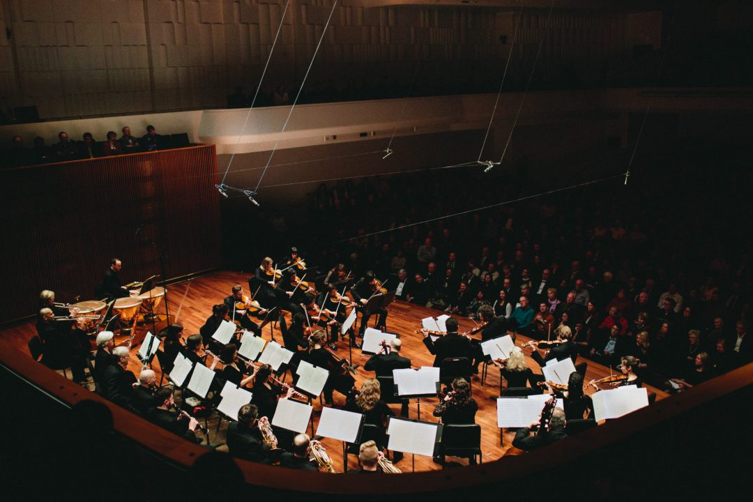 """The Saint Paul Chamber Orchestra's Concert Hall Opening Celebration Performance. Image by <a href=""""http://ashandjamesphotography.com/"""" target=""""_blank"""">Ash & James Photography.</a> Courtesy of <a href=""""https://www.thespco.org/"""" target=""""_blank"""">The Saint Paul Chamber Orchestra</a>"""