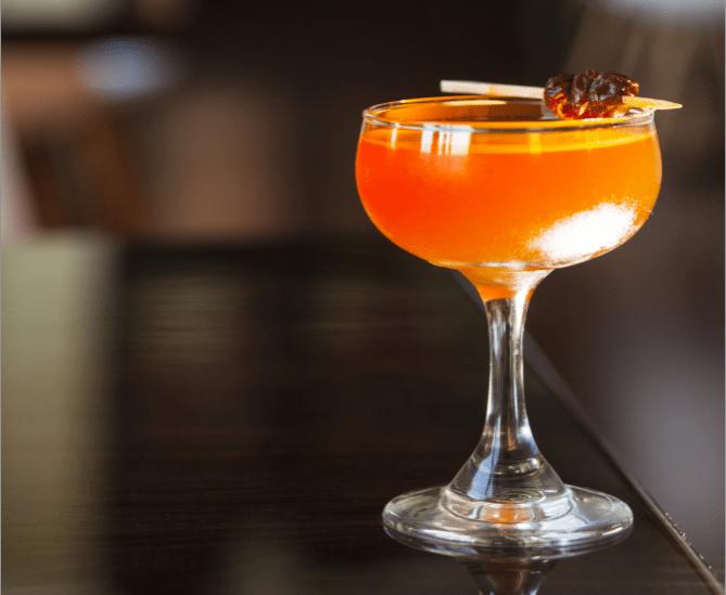 Cocktail at Saint Dinette. Image by TJ Turner/Greenspring Media