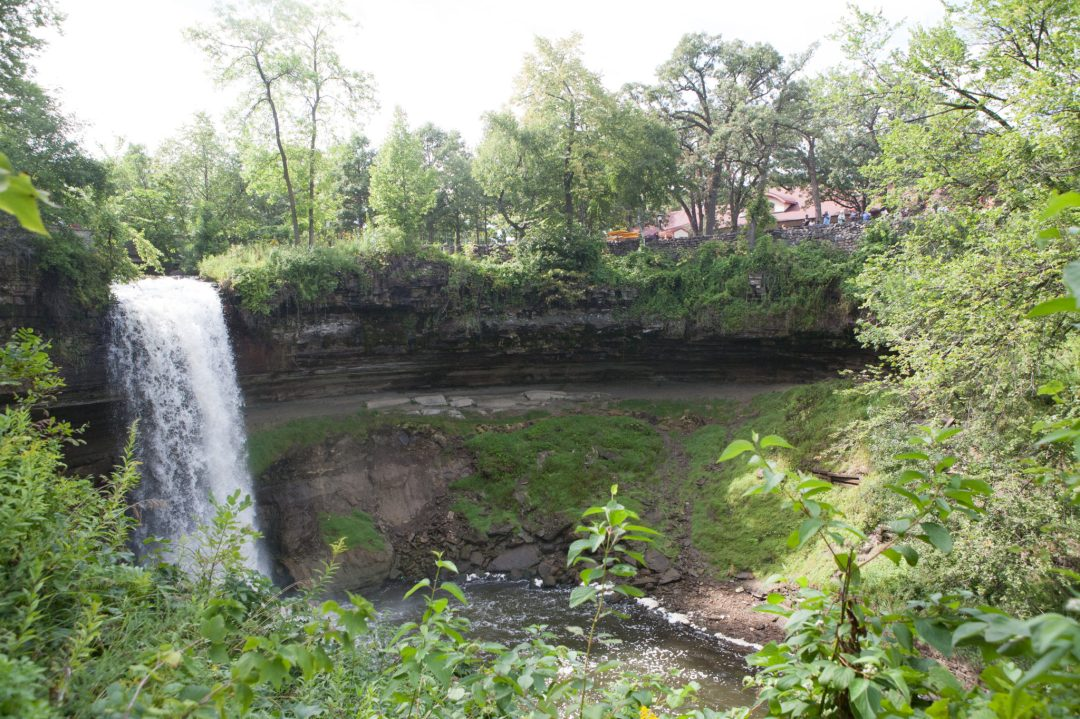The falls at Minnehaha Regional Park.