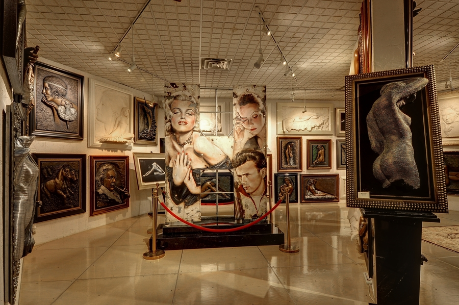 An art exhibit inside Griffin Gallery.