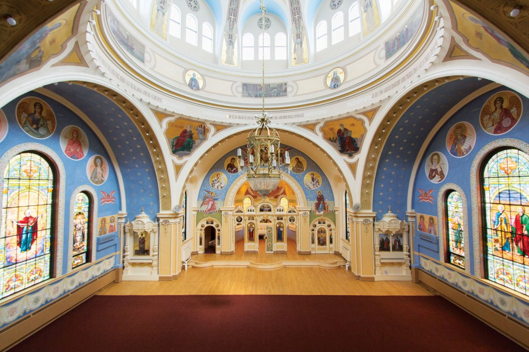 The altar of St. Mary's Orthodox Cathedral.