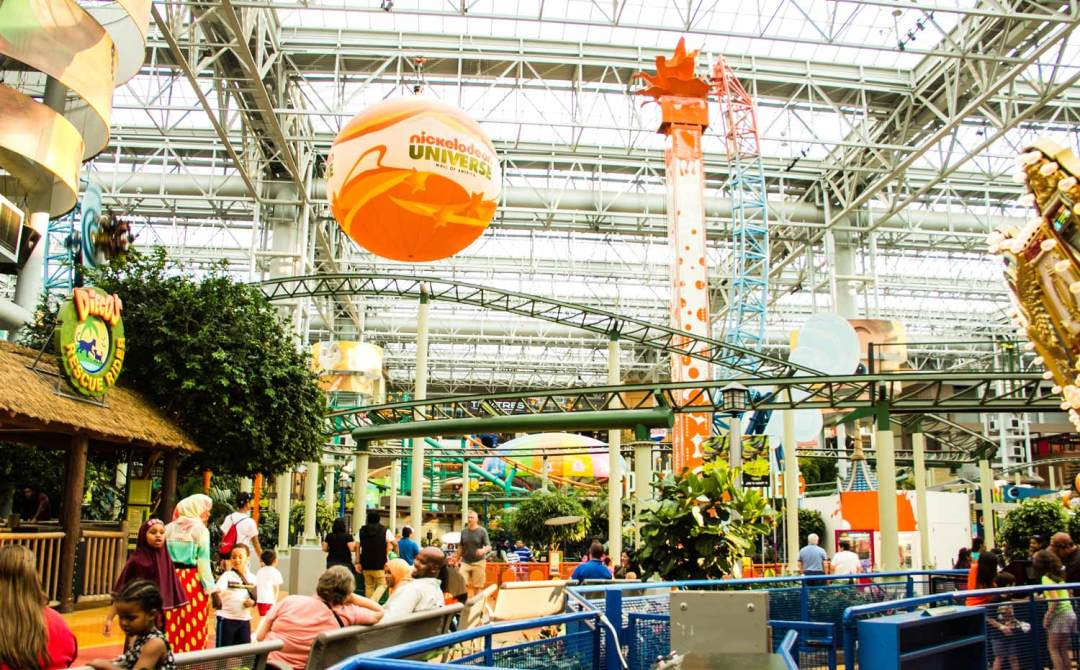 Nickelodeon Universe Aerial View