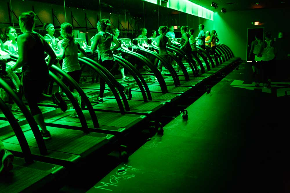 Treadmills at Fly Feet Running.