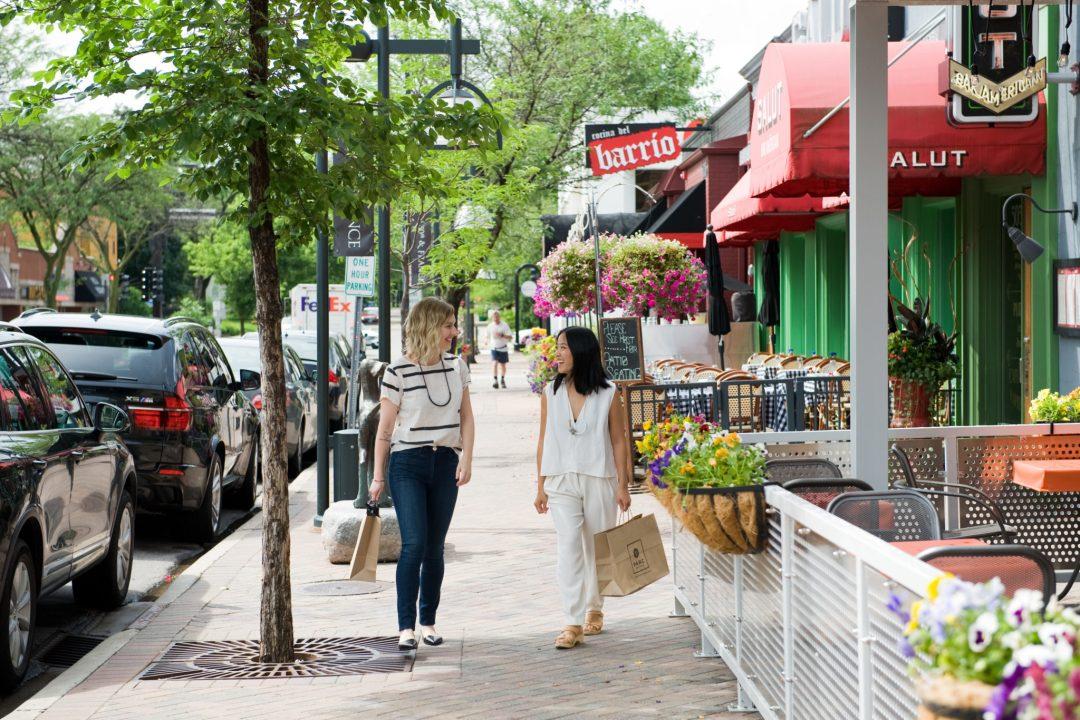 Women Shopping in Edina on 50th & France