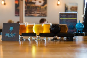 Insight Brewery flight of beer