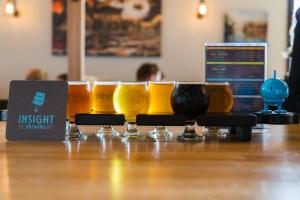 Insight Brewery flight of beer