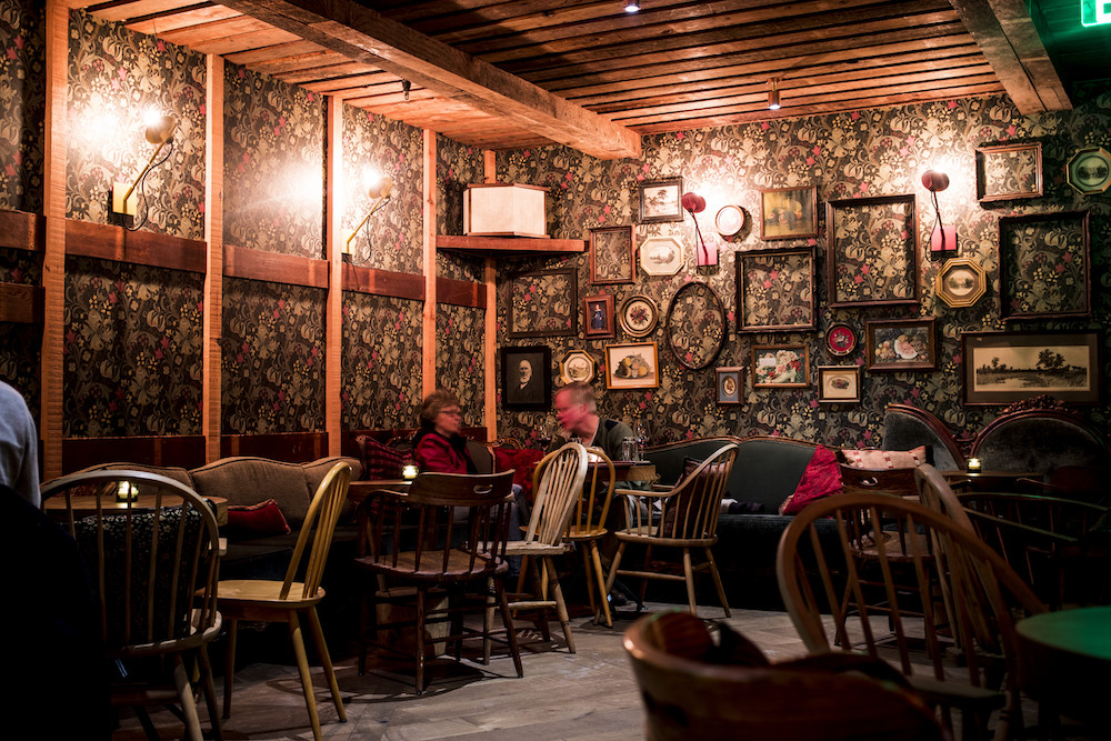 Inside the Back Bar, a speakeasy located behind Young Joni in Northeast Minneapolis