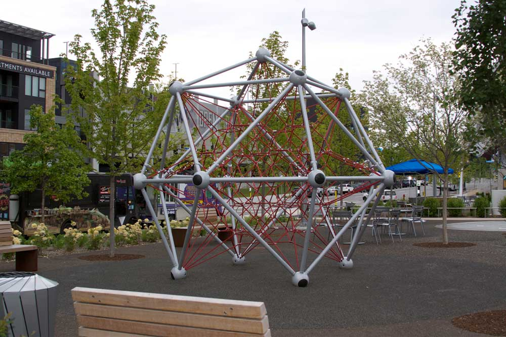 The jungle gym at Downtown East Commons in downtown Minneapolis.