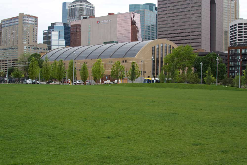 The Great Lawn at Downtown East Commons in downtown Minneapolis.