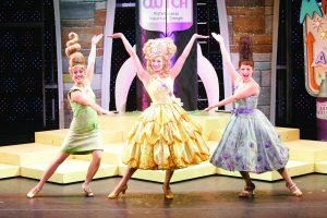 Actresses on theater stage in Hairspray the musical at Orpheum Theatre in Minneapolis.
