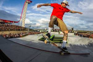 Ryan Sheckler skating at the X Games.