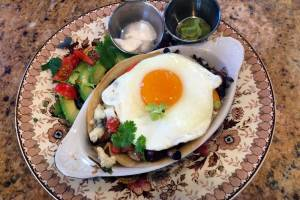 Como Lake Bed and Breakfast's Huevos Rancheros.