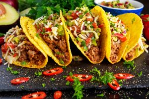 Tacos on a platter. | Lake Street Taco Tour