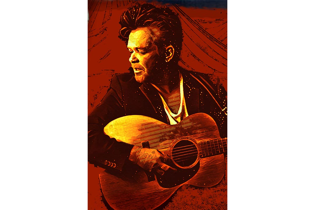 A portrait of John Mellencamp.