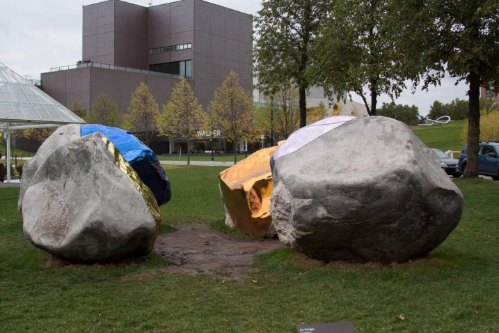 The Untitled rock sculpture at the Minneapolis Sculpture Garden.