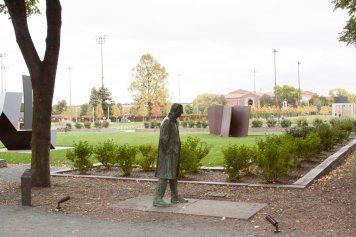 Walking Man at the Minneapolis Sculpture Garden.