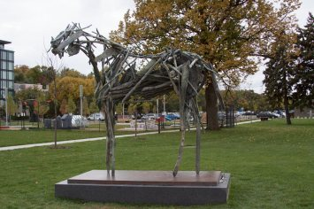 Woodrow at the Minneapolis Sculpture Garden.