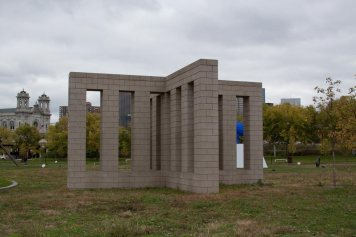 X with Columns at the Minneapolis Sculpture Garden.