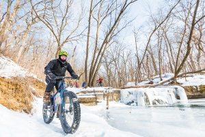 Fat Biking in Northfield, Minnesota.