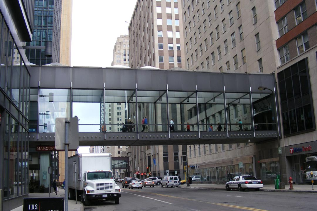 A skyway in downtown Minneapolis.