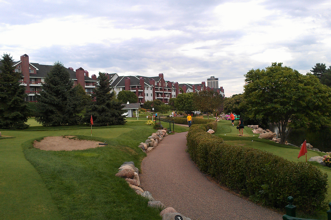 Mini golf at Centennial Lakes Park in Edina, Minnesota.