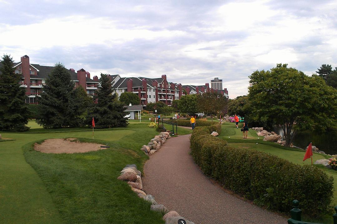 Mini golf at Centennial Lakes Park in Edina, Minnesota.