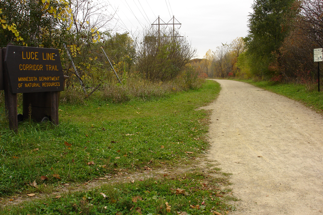 Luce Line Trail in Minneapolis, Minnesota.