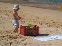 Child on Beach in Puerto Vallarta Mexico