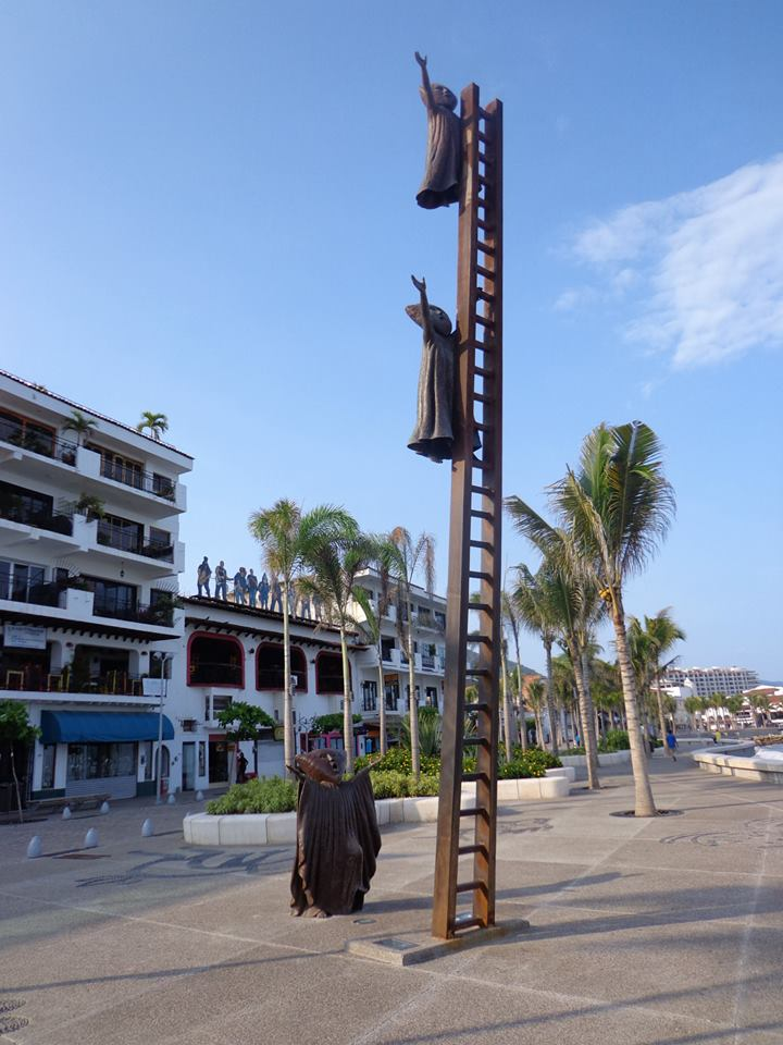 Malecon Sculpture in Puerto Vallarta, Mexico