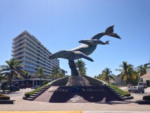 Marina Vallarta Whale Statue