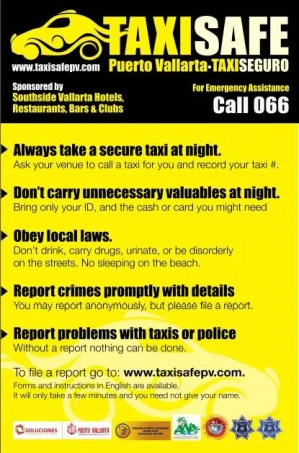 Taxi Safe Program in Puerto Vallarta Mexico