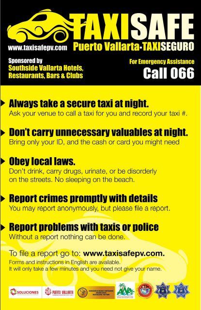 Taxi Safe Program in Puerto Vallarta Mexico