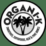 Logo for Organi-K Restaurant in Nuevo Vallarta