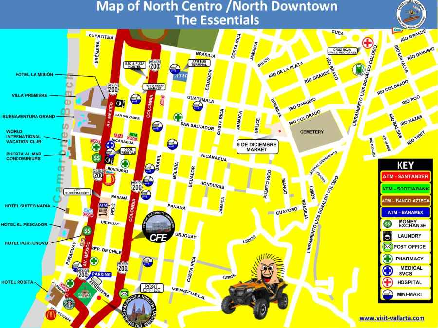 This is a map of the north side of downtown Puerto Vallarta in jpeg format