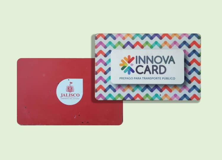 Picture of the new Innova Card. The pre-paid card for paying bus fares.