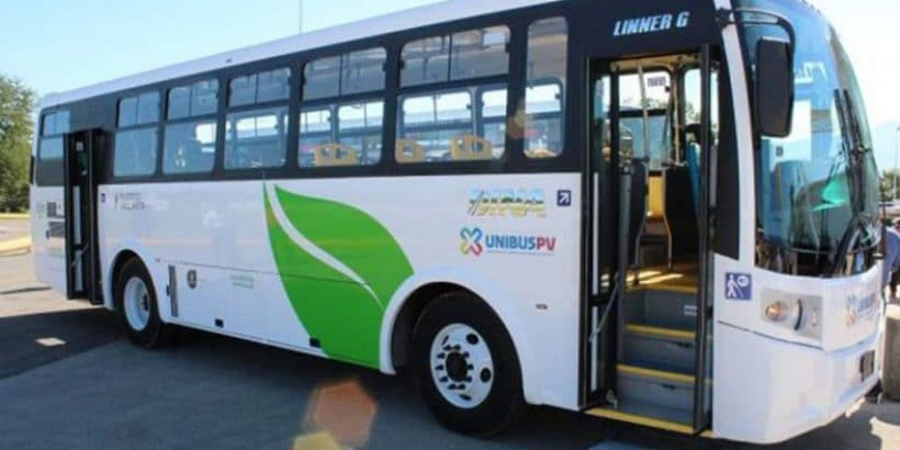 Picture of a new UNIBUSPV bus with the door open