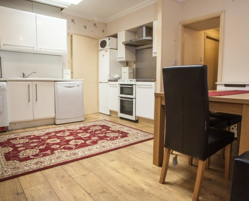 Open plan kitchen in 2 bedroom in self catering apartment