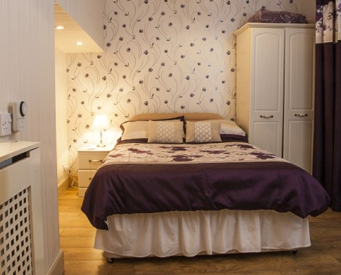 Double bed - quality furnishings for self catering