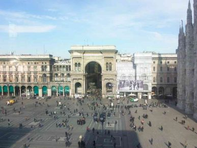 Los domingos en Milán - Vista desde el Museo del Siglo XX